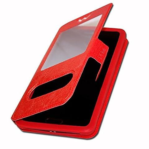 Orange avec Intel Inside Etui Housse Coque Folio rouge pour