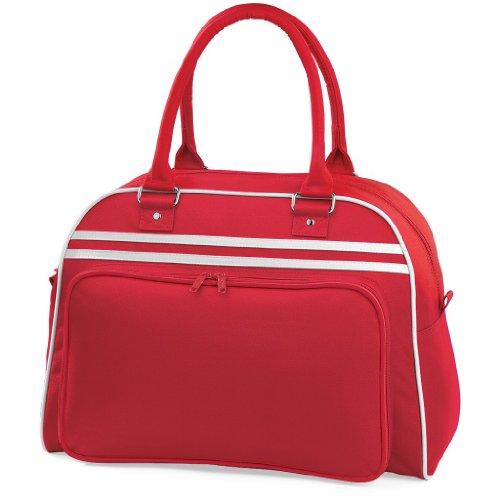 Sporttasche 'Retro Bowling Bag' Classic Red/White
