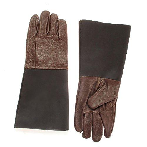 Anti-handschuh (2 x Schutzhandschuhe Leder Handschuhe Reptil Anti-Bite Kratzer Burn Prevent)