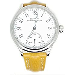 Mechanical Clock Eberhard treaversetolo 21020vzcp quandrante Steel White Leather Strap