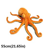 Gjyia Giant Realistic Stuffed Marine Animals Soft Plush Toy Octopus Orange