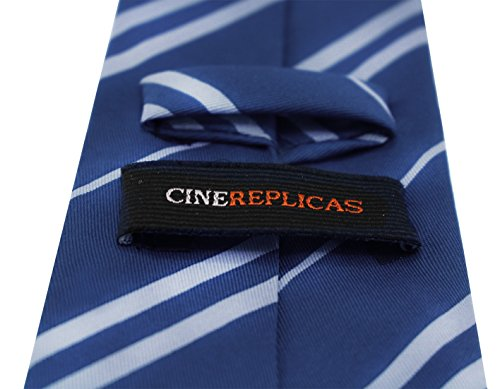 Cinereplicas - Harry Potter - Cravate Unisexe - Réplique Exacte - Licence Officielle - Maison Serdaigle - Taille Unique - 100 % Microfibres - Bleu & Gris