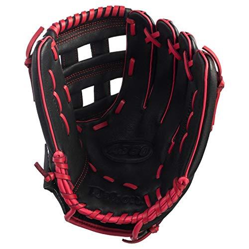 Wilson A360 Baseballhandschuh für Linkshänder, 30,5 cm, Schwarz/Rot