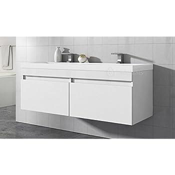 badezimmer badm bel avellino 120 cm hochglanz wei unterschrank schrank waschbecken waschtisch. Black Bedroom Furniture Sets. Home Design Ideas