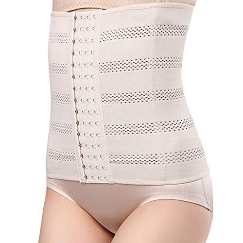 IZHH Damenmode Korsett Shapewear Bauch Kunststoff Taille Körperformung Kleidung Einfarbig Dünne Taille Postpartum Körperformung Unterwäsche Khaki XL