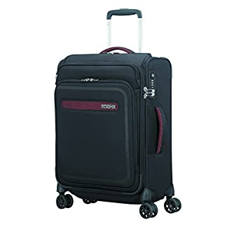 American Tourister Airbeat – Smart Spinner 55/20 Equipaje de mano, 55 cm, 39 liters, Negro (Universe Black)