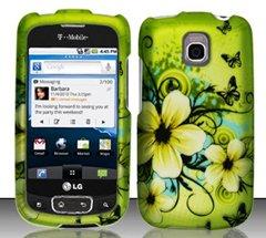 LG Optimus T/Thrive/Phoenix P509/P505Hawaiian Flowers Design Hard Case Snap on Schutzfolie Cover + Kfz Ladegerät + Umhängeband + Gratis Magic Boden Kristall Geschenk