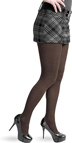 2 x Damen Strickstrumphose aus Baumwolle Farbe Dunkelbraun Größe L/XL (Blickdichte Strumpfwaren Strumpfhose)