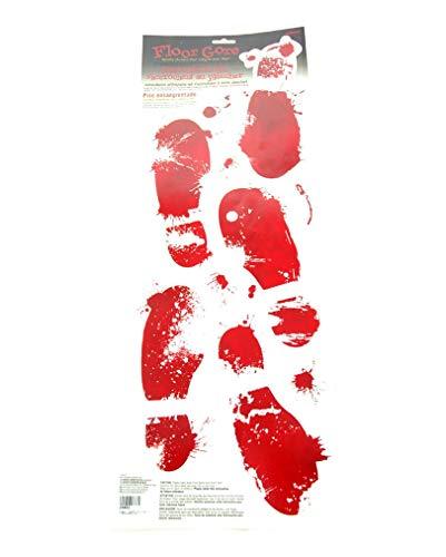 Horror-Shop Blutige Schuhabdrücke Aufkleber Set