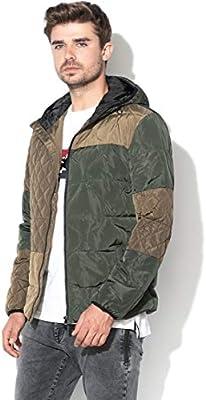 Desigual Alonso 19WEW05-6100 - Chaqueta de Invierno para Hombre Verde