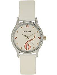 Red Apple's RA_123, White Dial Analog Watch For Girls, Women