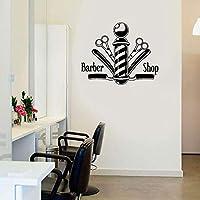 Vinyl Sticker Hair Nail Salon Signboard Barber Shop Scissors for Window Waterproof 71X57cm