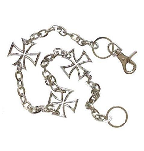 Hosenkette Schlüsselkette Börsenkette Wallet Chain Edelstahl Iron Cross Biker