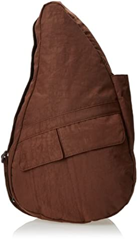AmeriBag Classic Distressed Nylon Healthy Back Bag tote Medium,Brown,one size