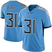 AFDLT Hombres Rugby Jersey,Versión Elite Titans 31#/ 8#/ 22#,Fan Sportswear,Respirable Camiseta de fútbol,Casual Redondo Polo Shirt,1,S