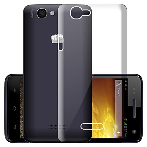 WTF Back Case, Lightweight,Shock Absorbing Transparent Soft Back Case Cover For Micromax A120 Canvas 2  available at amazon for Rs.184