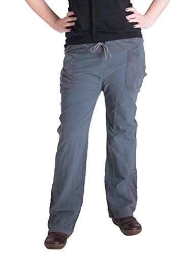 Vishes - Alternative Bekleidung - Lange Sommerhose aus Baumwolle Grau