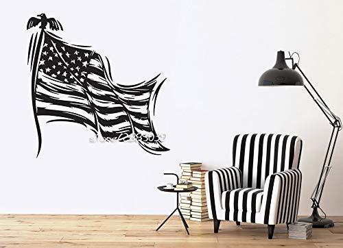 yaoxingfu Patriotische Dekor Wandaufkleber Sterne Gestreiftes Symbol Der Staatsflagge Der USA Wandtattoos Perfekte Qualität Tapete Poster S42X47 cm
