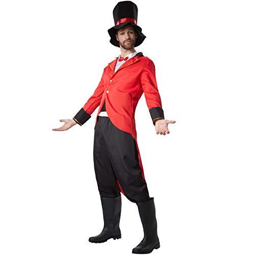 dressforfun 900552 - Costumi Uomo Adulti Fiero Direttore di Circo, Fusciacca e Grosso Cappello Inclusi (XL | No. 302541)