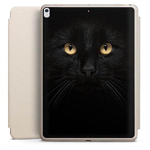DeinDesign Apple iPad Pro 10.5 2017 Smart Case Sand Hülle mit Ständer Schutzhülle Katze Eyes Augen -