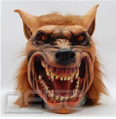 Leuchtende Der Kostüm Wolf - XDDXIAO Halloween Latex Silikon Maske Creepy Wolf Kopf Tier Maske Horror Werwolf Masken für Halloween Cosplay Kostüm Adult Party Masken