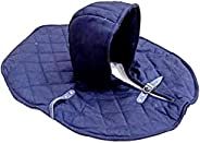 THORINSTRUMENTS (with device) Armor Medieval Renaissance Padded Arming Cap Collar Head Neck Cotton Black Sca