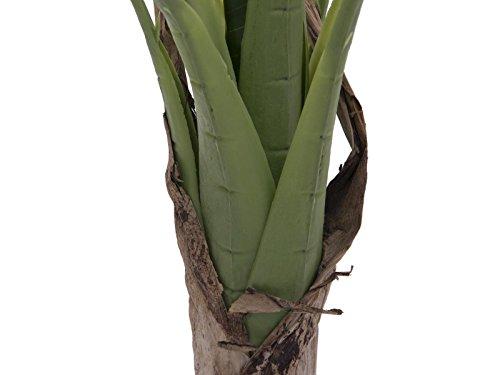 artplants – Künstlicher Bananenbaum Makani, 100 cm – Deko Tropenpflanze/Kunst Obstbaum