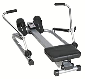 BENTLEY FITNESS SCULLING INDOOR ROWER FOLDABLE ROWING MACHINE WITH HYDRAULIC ARMS