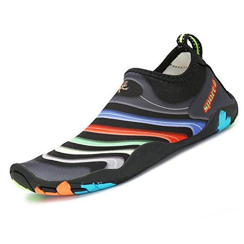 SAGUARO Kinder Badeschuhe Aquaschuhe Schwimmschuhe Wasserschuhe Strandschuhe Water Shoes für Jungen Mädchen, 31 EU/Label 32 Schwarz