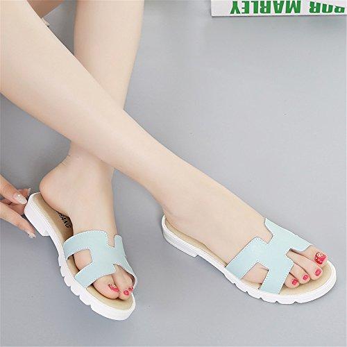 Estate Cool pantofole Ladies scivoloso ciabatte sandali per esterni Blue