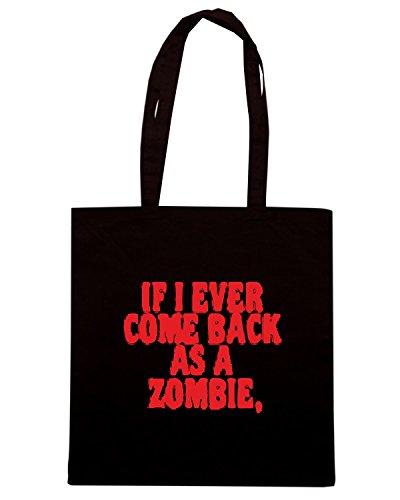 T-Shirtshock - Borsa Shopping TZOM0029 come back zombie Nero