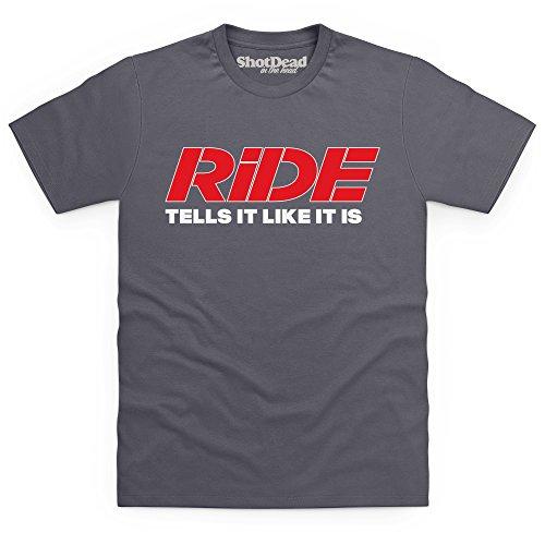 Official RiDE Magazine Logo T-Shirt, Herren Anthrazit