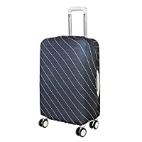 Artone Stripe Washable Spandex Travel Luggage Protector Baggage Suitcase Cover Fit 18-20 Inch Luggage Black