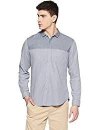 Indigo Nation Street Men's Striped Slim Fit Casual Shirt