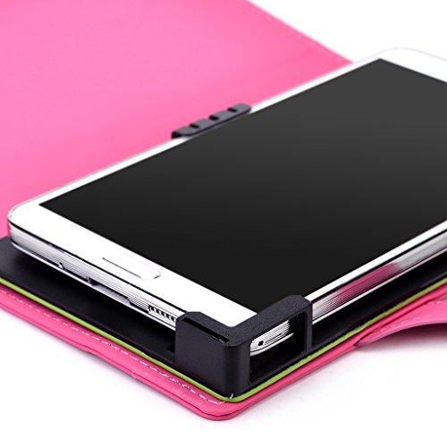 Kroo Étui de protection pour, universel pour Samsung Galaxy Grand Prime/S4Active/Grand Neo/S4Value Edition avec fonction support magenta magenta