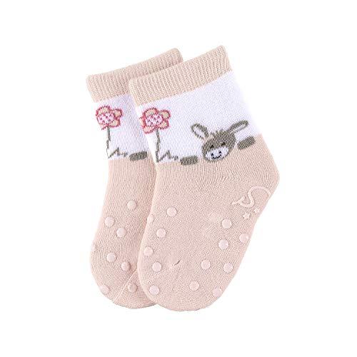 Sterntaler Calcetines antideslizantes ABS en Paquete Doble con diseño de Chica Emmi, Edad: 9-18 meses, Talla: 20, Rosa