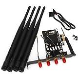 DN Tarjeta de red inalámbrica Convertir E PCI-E adaptador PCI-1X Para BCM94360CD Wifi
