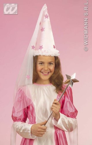 Kostüm Kinder Silver Star - WIDMANN-Wdm2917s Magica Fatina Ragazz, Silber, One Size, WDM2917S