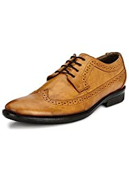 Mactree Mens Tan Artificial Leather Lace-Up Shoes�2703
