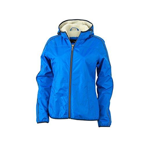 JAMES & NICHOLSON - veste hiver doublure peluche - JN1103 - Femme bleu royal