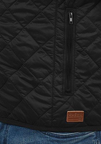 BLEND Noval 20706322ME Herren Stepp-Weste Übergangsweste mit Stehkragen aus hochwertiger Materialqualität Black (70155)