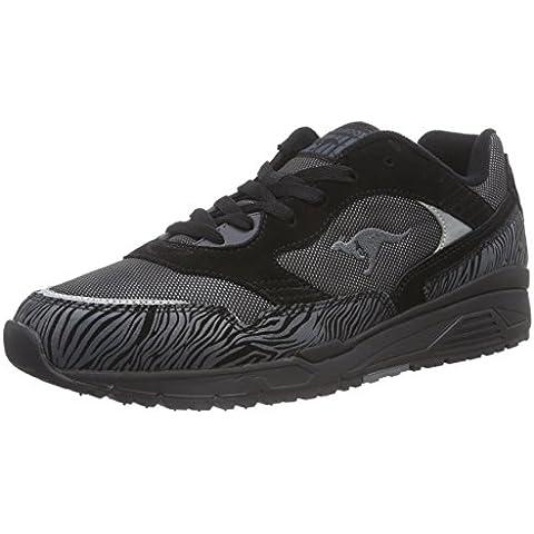 KangaROOS Ultimate All Black - zapatilla deportiva de cuero hombre