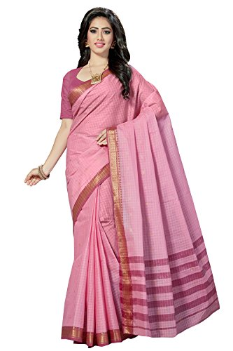 Rani Saahiba Women's Pure Cotton Saree Without Blouse ( Skr3198_Baby Pink )