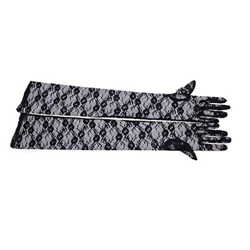 FakeFace Opernlänge Fingerspitzen Handschuh Elastischer Spitze Brauthandschuhe Party Abendhandschuhe handschuhe Winter Frühling Sommer (Kostüme Billig Pantomime)