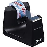 tesa Easy Cut SMART Klebebandabroller für Tische / Kompakter Tischabroller mit Anti-Rutsch-Technologie für Klebefilm bis 33 m x 19 mm