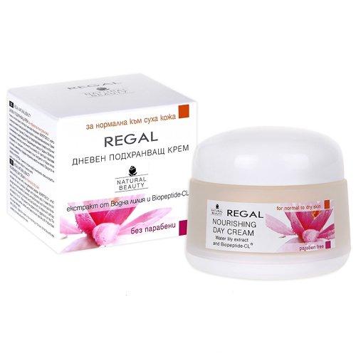 Crème de jour nourrissante anti rides avec filtre UV REGAL Natural Beauty Peau normale à seche