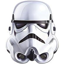 Empire Interactive - Máscara de cartón (efecto satinado, agujeros en los ojos y cinta de goma, 30 x 20 cm aproximadamente), diseño de Soldado Imperial de la Guerra de las Galaxias