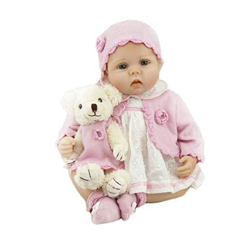 iCradle Real Look Realista Reborn Muñeca bebé 55 cm Recién Nacido Suave Silicona de Vinilo Realista Niña Reborn Niña Hecha a Mano Regalo de Cumpleaños Para Niños