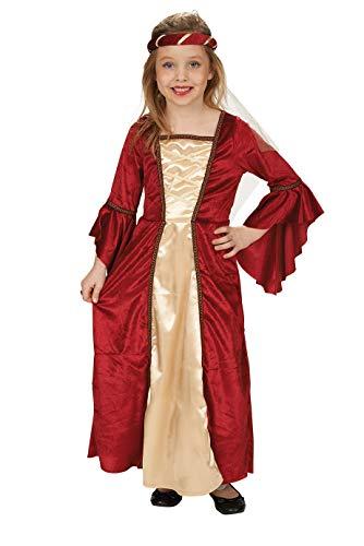 Burgfräulein Mittelalter Kostüm für Mädchen Gr. 152 zu Karneval oder Ritterfest