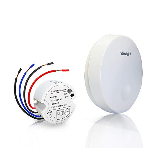Kit de interruptor de luces inalámbricas, sin batería, sin cables, distancia de...